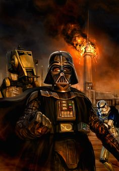 /by Chris Scalf #StarWars #illustration #DarthVader