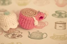 crochet cup key ring pattern.