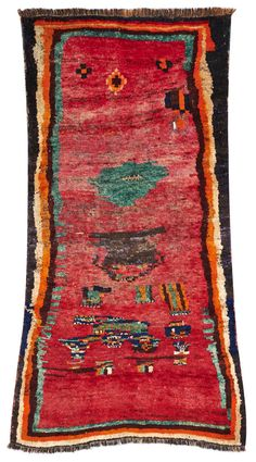 * Gabbeh gaschgai 1837 (deep piled sleeping rugs) from southwest Persia