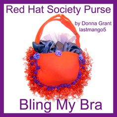red-hat-society  Bra Purse