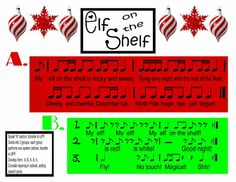 O For Tuna Orff: Elf on the Shelf Speech Piece with Ostinati and Possible UPP