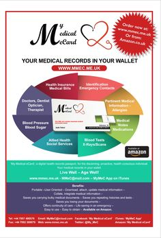 Your Medical Records in your wallet.  https://youtu.be/wQbLR7hPzqk  Live Well - Age Well!    Sadé Tolani My Medical eCard www.mmec.me.uk