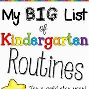 kindergarten routines for back to school