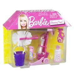 barbie cleaning time pink httpwwwamazoncomdpb0069zxtcqrefcm_sw_r_pi_awdm_gpsstb1echrre amazoncom barbie size dollhouse