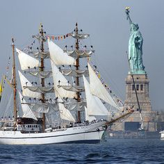 If you sail due east from New York City, which European country do you land in? Portugal! Generally, most of the Western Europe is located more to the north than the United States. New York has pretty much the same latitude as Naples, Madrid or Istanbul.  If you sail west from Great Britain (no matter which point you start at), you will land in Canada - the latitude of London corresponds to the southernmost shore of the Hudson Bay!