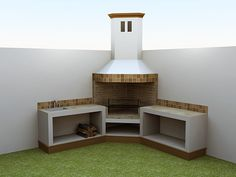 Somine – Back yard grill Barbecue Design, Grill Design, Patio Design, Outdoor Kitchen Patio, Casa Patio, Grill Gazebo, Pergola, Parrilla Interior, Outdoor Barbeque