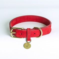 Halsband Tiergarten Nubukleder Cherry Red
