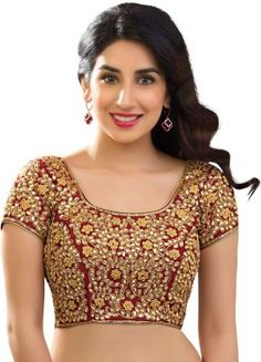 Vamas Maroon Swaroski Studded Bridal Blouse #SareeBlouse #BridalBlouse