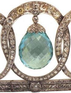 Aquamarine Diamond Tiara of Queen Victoria Eugenie of Spain