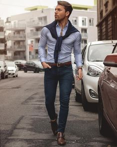 men casual looks great ! Fashion Business, Business Casual Outfits, Rugged Style, Mens Fashion Shoes, Look Fashion, Mode Outfits, Trendy Outfits, Moda Formal, Look Man