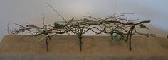 contemporary dried arrangement