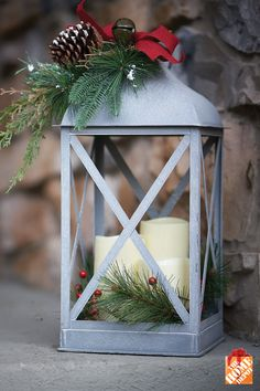 Light up your doorstep with a charming Christmas lantern. Learn more at homedepot.ca.