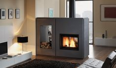 Rocal double sided fireplace