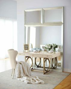 Salon Home Office | Bernhardt - Just to give yo ua better idea of the what the mirror looks like