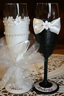 Nádoby - Svadobné poháre - láska - 6603912_