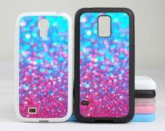 Sparkle Glitter Samsung Galaxy S5 case,Galaxy S4 case,Galaxy S3 case,(Hard / Rubber case for choice) Galaxy s5 s4 cover