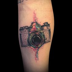 Camera tattoo by Daniel Matsumoto