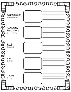 Freebie Summary Graphic Organizers and Poster: Fiction and