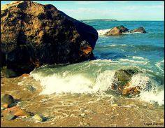 Waves on Rocks ~ Block Island, Rhode Island Photo by Logan Darrow www.logan-darrow.tumblr.com