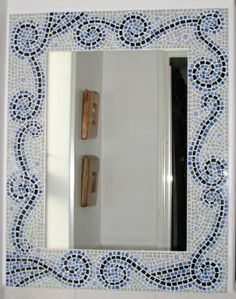 Mirror I made for one of our bathrooms Mosaic Projects, Polymer Clay, Bathrooms, Ideas, Home Decor, Decorative Mirrors, Mosaic Crafts, Mirror Mosaic, Frames