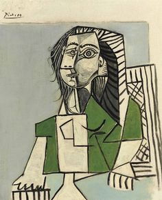 Pablo Picasso (1881-1973)   Femme assise Picasso dies 1973