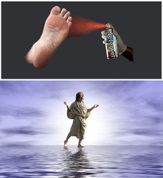 Dank Christian Memes for the Endless Winter Plague – Dust Off The Bible Jesus Walk On Water, Christian Memes, Meme Lord, Bible Quotes, Jokes, Humor, Satan, Winter, Humour