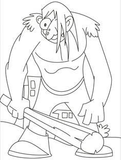 This giant really in a bad mood coloring pages | Download Free This giant really in a bad mood coloring pages for kids | Best Coloring Pages