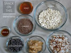 DIY granola bar bites