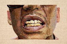 portraits brodés de Daniel Kornrumpf