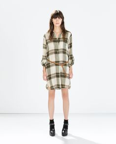ZARA - WOMAN - CHECKED SHIRT DRESS