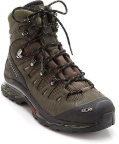 Solomon Quest 4D GTX Hiking Boots. Originally $230 but discounted to $160 at REI. The Gore-Tex membrane makes this boot fully waterproof. Very comfortable and takes little to no breaking in.
