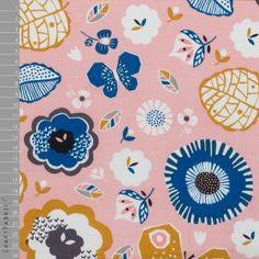 Dashwood Studio - Bawełna - September Blue Kwiaty