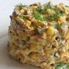 Грибы под шубой: отлично подойдет для праздничного стола! ИНГРЕДИЕНТЫ Грибы – 500 г.Лук репчатый – 1-2 шт. Картофель – 3-4 шт. Зеленый лук – пучок. Яйца – 3-4 шт. Огурцы соленые – 3 шт. Сыр твердый – 200 г. Майонез – 300 г. Соль – по вкусу. СПОСОБ ПРИГОТОВЛЕНИЯ Шаг 1. Грибы перебираем, моем, режем […]