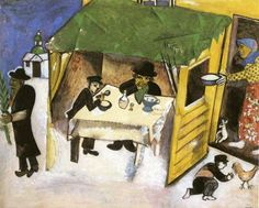 The feast of the tabernacles 1916 - by Marc Chagall