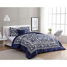 VCNY Eleanor Comforter in Navy/White