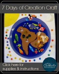 7 Days of Creation Craft - Our Catholic Homeschool