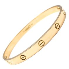 CARTIER Love Yellow Gold Bangle Size 20