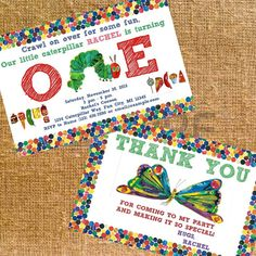 Customized Very Hungry Caterpillar Birthday Party by CK5Designs1, $12.00