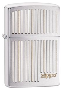 Add this simple but unique lighter to your collection. This brushed chrome windproof lighter features the zippo logo with white and grey stripes that represent a barcode pattern.   Each Zippo Windproof lighter is made in America and comes with a lifetime guarantee! #Zippo #Lighter  #MadeinUSA #AmericanMade #MadeInAmerica
