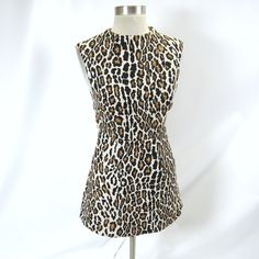 Alice + Olivia Dress (Pre-owned Leopard Print Cutout Back Dress)