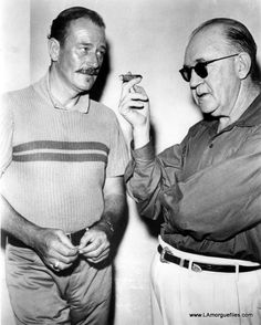 John Wayne and John Ford