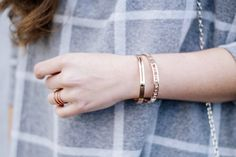 Rose Gold Bangles and Ring @thepeachbox