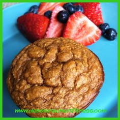 Here is my latest healthy muffin recipe. I adapted it from my original Pumpkin protein muffin recipe and I have to say that it is just as good if not better! As with most of my muffin recipes, this