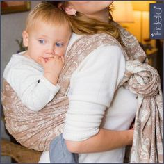 Fidella babywrap -Persian Paisley toffee-