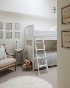 Interior Design Inspiration – Our portfolio showcases how we transformed a London townhouse into a traditional family home with an elegant country feel. London Townhouse, Interior Design Inspiration, Bunk Beds, Toddler Bed, Home And Family, Notting Hill, Furniture, Space, Home Decor