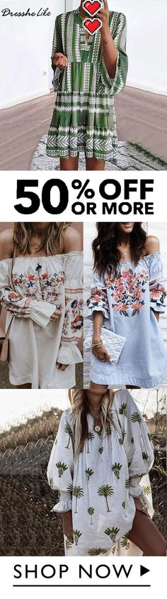 Top 200 bohemian summer printed dress must-have. Top 200 bohemian summer printed dress must-have. Summer Dresses Sale, Plus Size Summer Dresses, Summer Dresses For Women, Summer Outfits, Bohemian Summer, Bikini Modells, Mini Dress With Sleeves, Fall Fashion Outfits, Summer Dresses