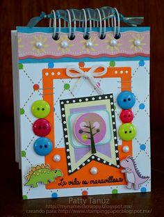 LA VIDA ES MARAVILLOSA (NOTEBOOK)Altered notebook.  Notebook. Cuaderno decorado. Libro alterado. Book.