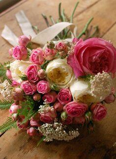 DIY Pink Rose Bouquet