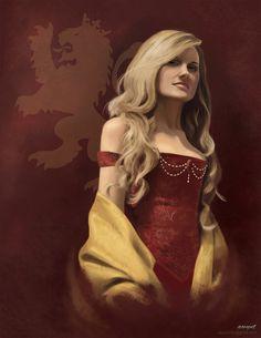 Cersei Lannister - Game of Thrones - Awynt Fritz Cersei Lannister, Daenerys Targaryen, Medieval Art, Medieval Fantasy, Arya Stark, Rhaegar And Lyanna, My Champion, Game Of Thrones Art, Fire And Ice