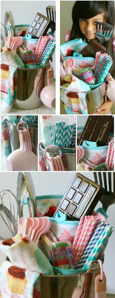 Easy homemade gift! Baking DIY Gift Basket ideas + FREE PRINTABLES gift tags- SWEET HAUTE perfect for Mother's Day, Wedding, house warming, holidays, anniversary! Pin now...make later!